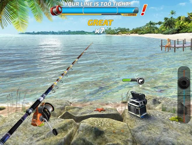 Screenshot from the Fishing Cash mobile game available on Play Store