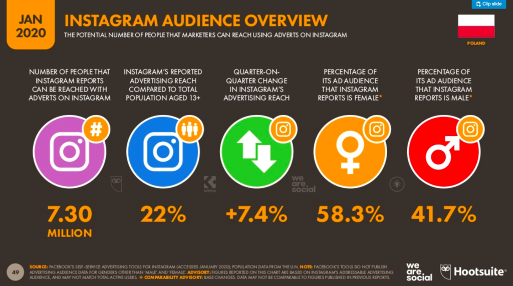 Instagram audience overvew